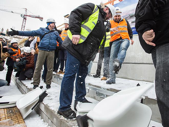 На стадионе «Динамо» прошло испытание кресел