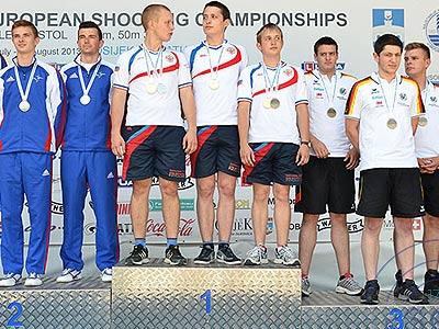 Россия выиграла три медали на первенстве Европы