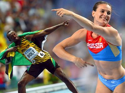 Усэйн Болт и Елена Исинбаева