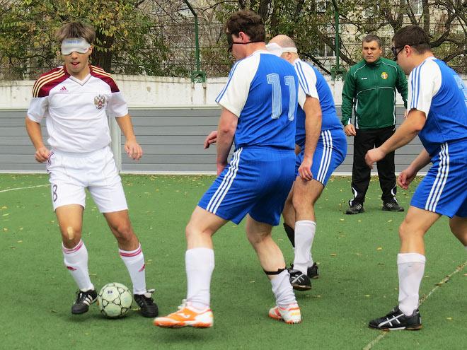Как в России живёт футбол слепых
