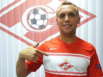 Денис Глушаков в спартаковской футболке