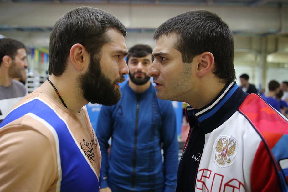 Борцы сборной России и «Борцы» из КВН встретились