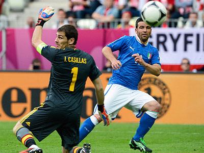 На Евро-2012 Испания пропускала только от Италии