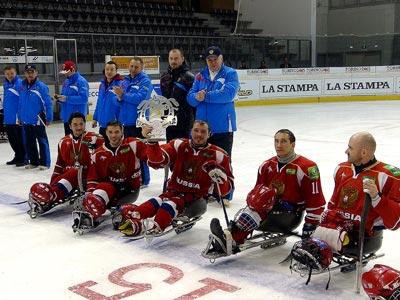 Наши следж-хоккеисты выиграли турнир в Италии