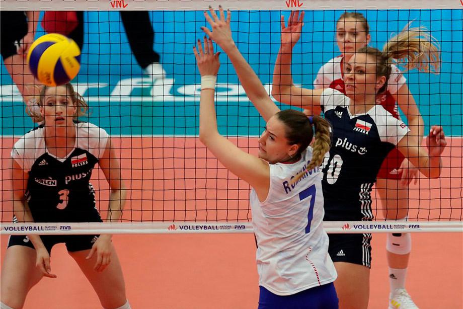 Россия проиграла Польше в волейбольной Лиге наций