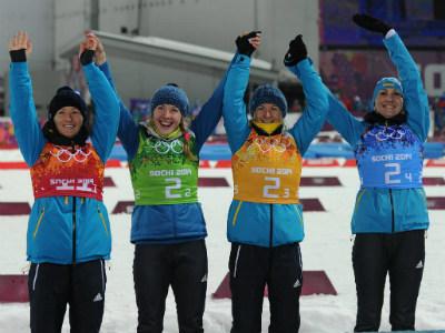 Сборная Украины - победитель Игр в Сочи в эстафете