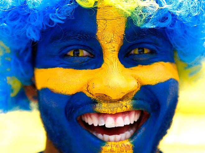 Болельщик сборной Швеции