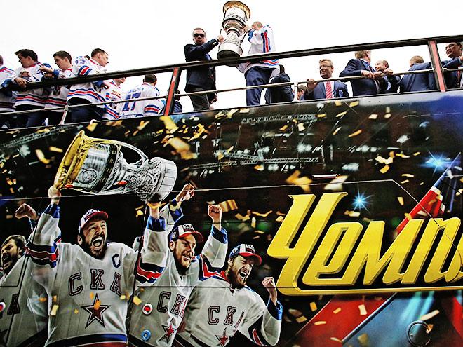 В Питере прошёл Парад чемпионов - ХК СКА