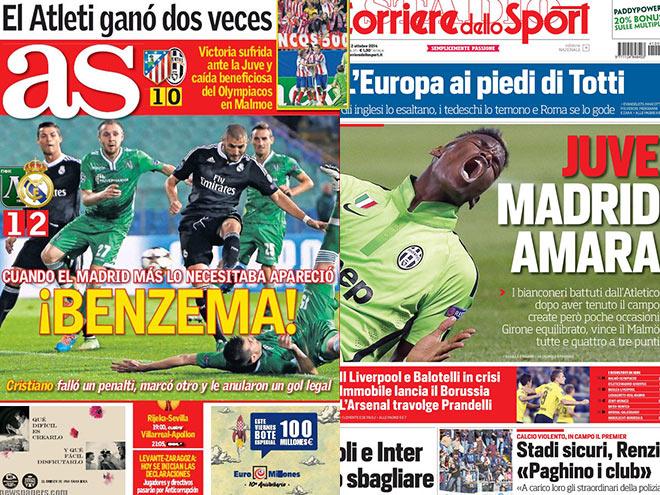 Матчи Лиги чемпионов - в обзоре футбольной прессы