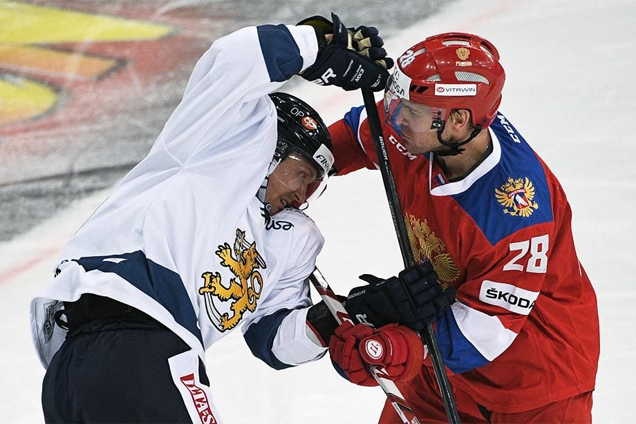 Новокузнечане отличились вматче сосборной Финляндии наэтапе хоккейного Евротура