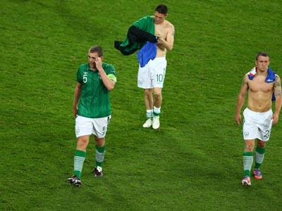 Ирландцы после матча с Хорватией