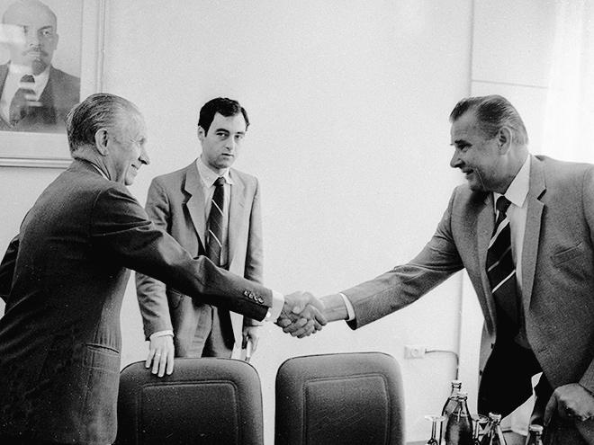 Хуан Антонио Самаранч и Лев Яшин