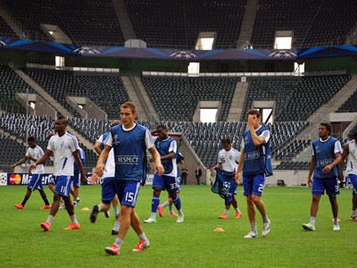 В понедельник вечером «Динамо» провело тренировку в Мёнхенгладбахе