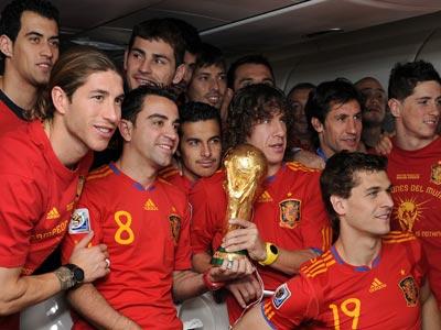 Сборная Испании с Кубком мира