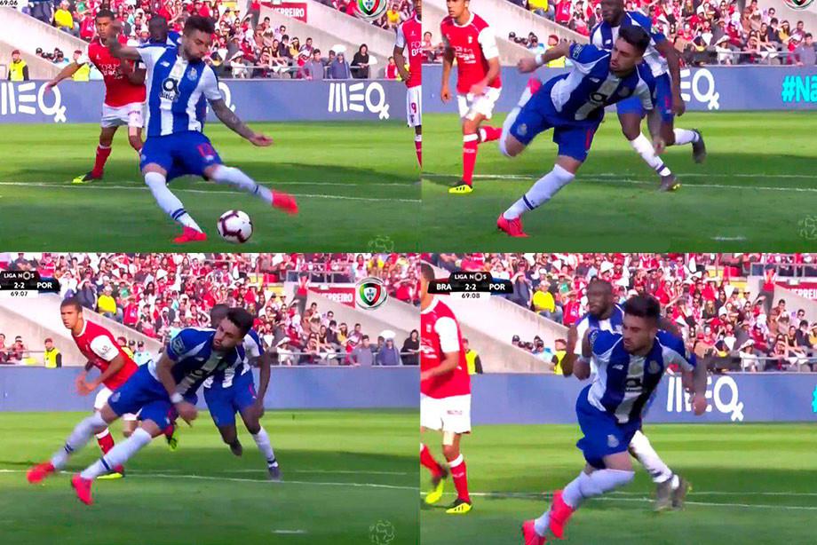 Защитник Порто получил травму, пробивая пенальти