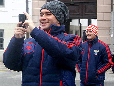 Кержаков перед прошлогодним матчем с Данией