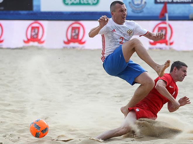 Трансляция матча Россия - Польша на квалификации ЧМ по пляжному футболу