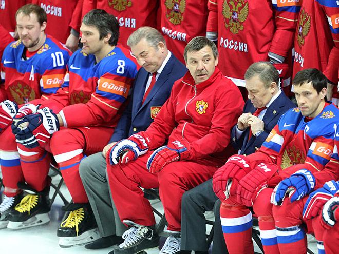 Сборная России провела тренировку перед игрой с Норвегией