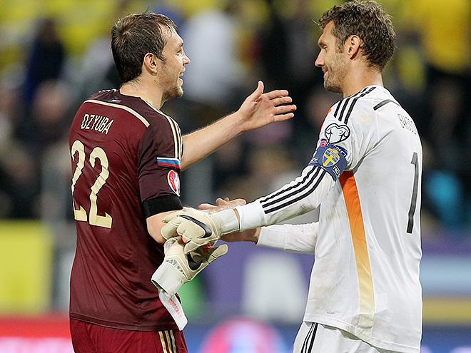 Швеция и Росия сыграли 1:1