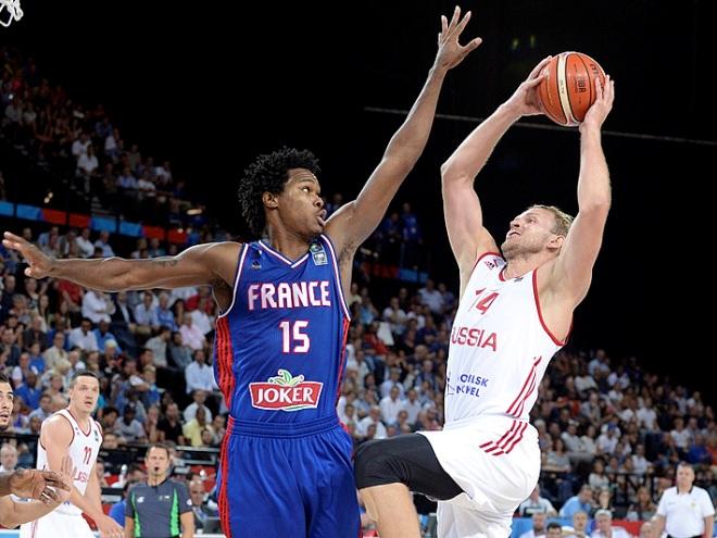 Россия уступила Франции на чемпионате Европы