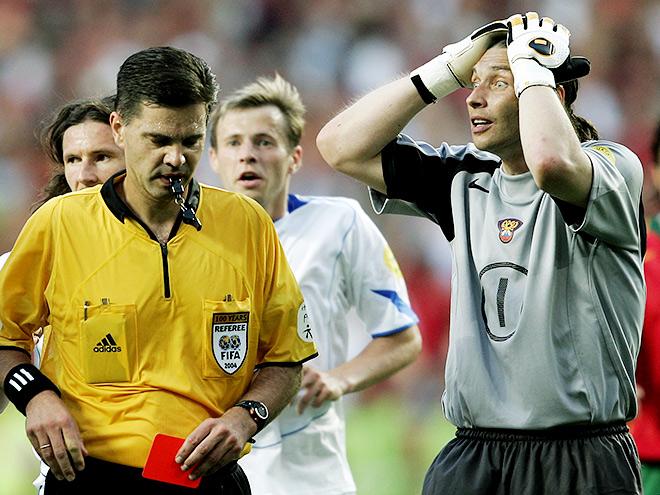 Россия — Португалия — 1:7. Удаление Овчинникова