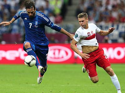 В первом матче Евро-2012 сборные Польши и Греции сыграли вничью