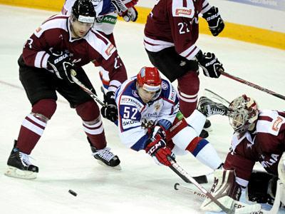 Латвия проиграла сборной России