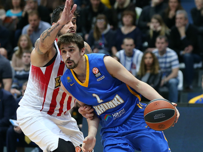 Алексей Швед реализовал 5 трёхочковых в игре с «Олимпиакосом»