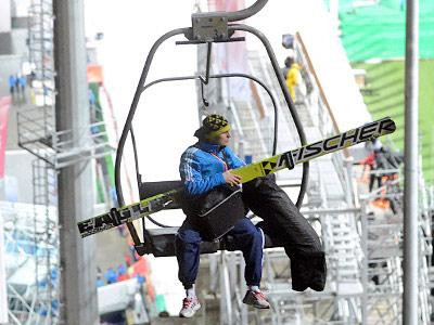 Олимпиада в Сочи. Подъёмник на трамплин