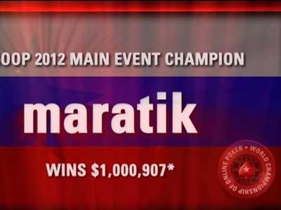 Maratik стал «Интернет-игроком года»