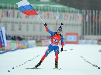 Биатлонная сборная России выиграла эстафету в Сочи