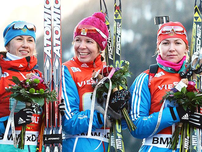Женская сборная России по биатлону на ЧМ-2015