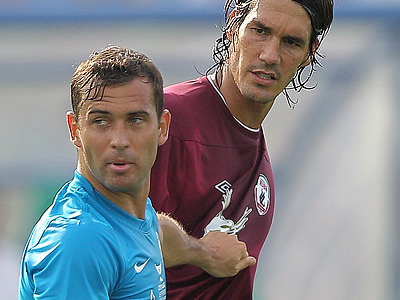 Александр Кержаков и Сесар Навас