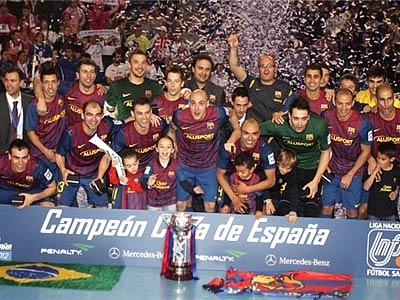 «Барселона» выиграла Кубок Испании по мини-футболу