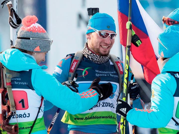 Жители России первенствовали вмедальном зачете чемпионата Европы побиатлону