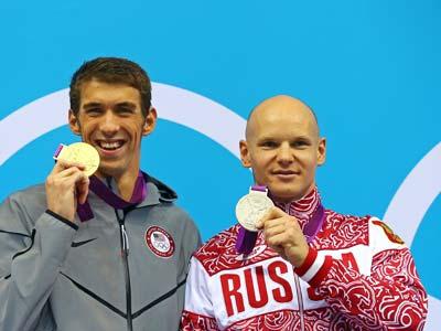 Лондон-2012. Плавание. Майкл Фелпс и Евгений Коротышкин