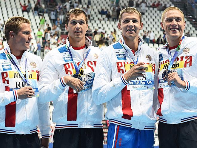 Первая медаль пловцов России в Казани