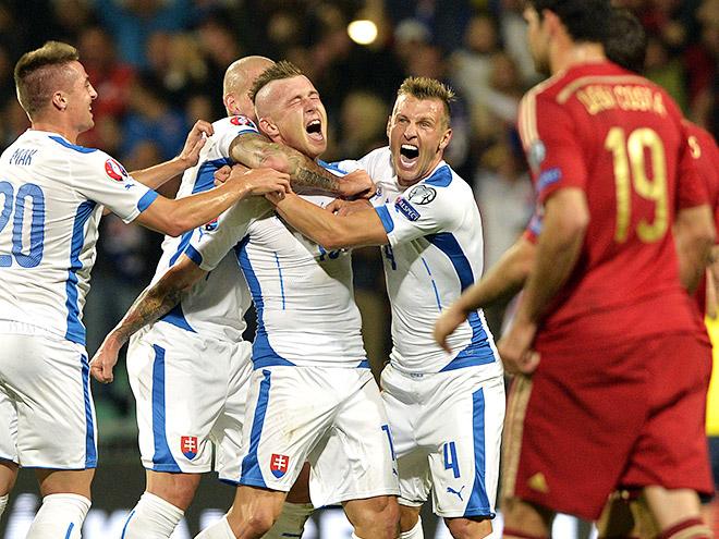 Словакия обыграла Испанию
