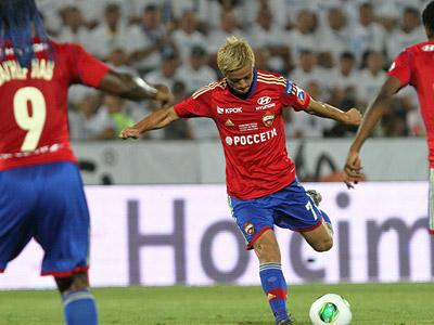 Кейсуке Хонда в матче за Суперкубок