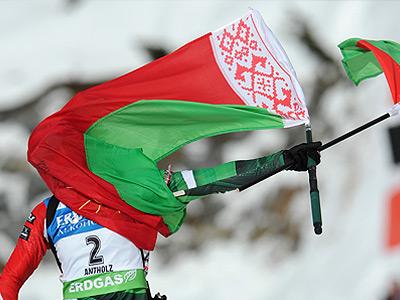 Два флага Даши Домрачевой
