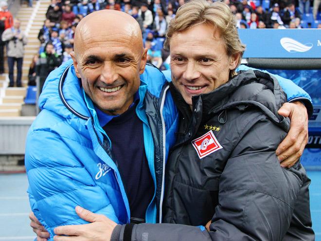 Лучано Спаллетти и Валерий Карпин