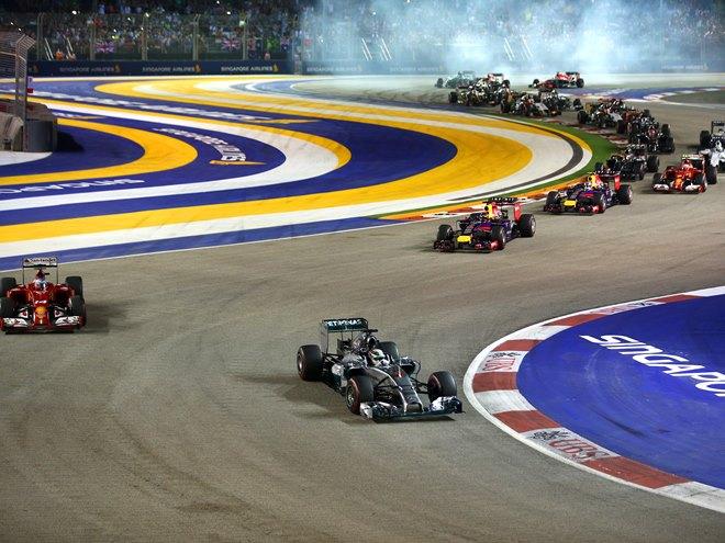 Формула-1. Сингапур. Онлайн воскресенья