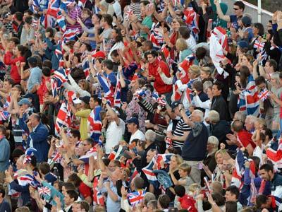 Лондон 2012. Британские болельщики