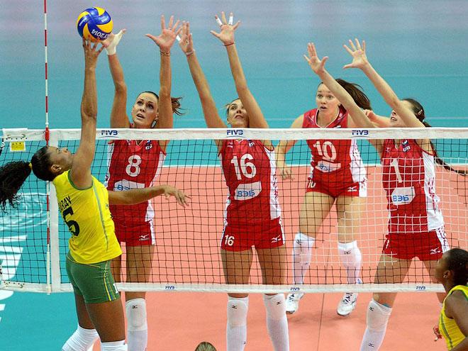 Волейбол. Чемпионат мира. Россия – Бразилия – 1:3