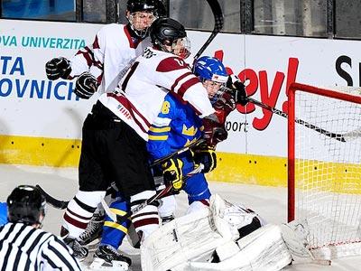 Юниорская сборная Швеции обыграла латвийцев