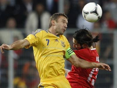 Сборная Украины проиграла Турции
