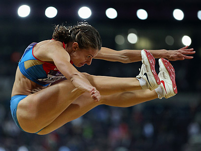 Прыжок Елены Соколовой