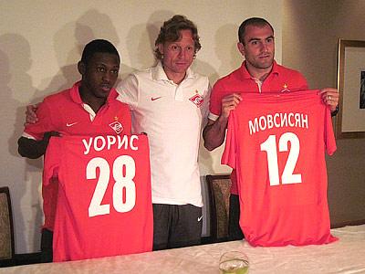 Валерий Карпин представил Мовсисяна и Уориса