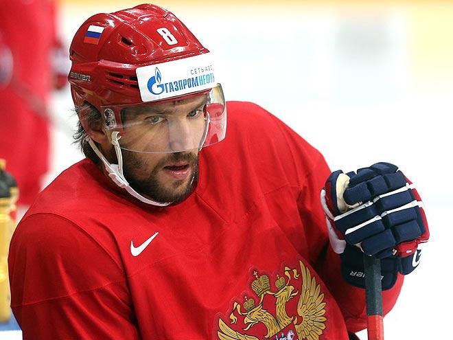 Подготовка сборной России к Кубку мира: первая тренировка, Овечкин, Малкин