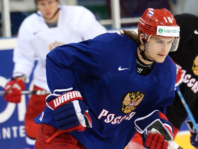 Сборная России провела тренировку в Хельсинки